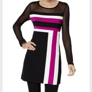 SALE! Final markdown!INC color block sweater dress